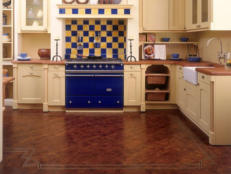 wooden kitchen flooring ideas w719e antique wood with b51 deco border 22768